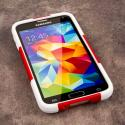 Samsung Galaxy S5 - Red MPERO IMPACT X - Kickstand Case Cover Angle 2