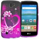 LG Spree Optimus Zone 3 VS425 K4 Purple Love TPU Design Soft Rubber Case Cover Angle 1