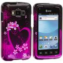 Samsung Rugby Smart i847 Purple Love Design Crystal Hard Case Cover Angle 1