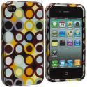 Apple iPhone 4 / 4S Rainbow Polka Dot Design Crystal Hard Case Cover Angle 2