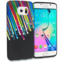 Samsung Galaxy S6 Edge Rainbow Star TPU Design Soft Rubber Case Cover Angle 1