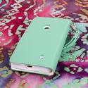 Nokia Lumia 521 - Mint MPERO FLEX FLIP Wallet Case Cover Angle 3