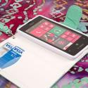 Nokia Lumia 521 - Mint MPERO FLEX FLIP Wallet Case Cover Angle 4