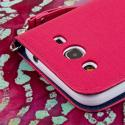 Samsung Galaxy Mega 5.8 - Hot Pink MPERO FLEX FLIP Wallet Case Cover Angle 7