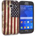 Samsung Galaxy Prevail LTE Core Prime G360P American Flag TPU Design Soft Rubber Case Cover Angle 1