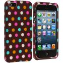 Apple iPhone 5/5S/SE Chocolate Dots Hard Rubberized Design Case Cover Angle 2