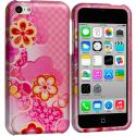Apple iPhone 5C Hot Pink Fairy Tail Hard Rubberized Design Case Cover Angle 1