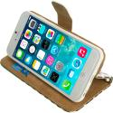 Apple iPhone 5/5S/SE Mint Green Zebra Leather Wallet Pouch Case Cover with Slots Angle 3