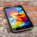 Samsung Galaxy S5 MPERO Slim Fit Hard Case Cover Black Matte Angle 2
