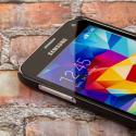 Samsung Galaxy S5 MPERO Slim Fit Hard Case Cover Black Matte Angle 4