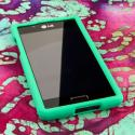 LG Splendor - Mint Green MPERO SNAPZ - Rubberized Case Cover Angle 2