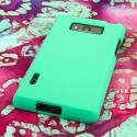 LG Splendor - Mint Green MPERO SNAPZ - Rubberized Case Cover Angle 3