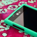 LG Splendor - Mint Green MPERO SNAPZ - Rubberized Case Cover Angle 4