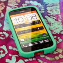 HTC One SV - Mint Green MPERO SNAPZ - Rubberized Case Cover Angle 2