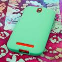 HTC One SV - Mint Green MPERO SNAPZ - Rubberized Case Cover Angle 3