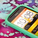 HTC One SV - Mint Green MPERO SNAPZ - Rubberized Case Cover Angle 4