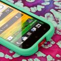 HTC One SV - Mint Green MPERO SNAPZ - Rubberized Case Cover Angle 5
