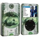 Apple iPod Classic Hundred Dollars Hard Rubberized Design Case Cover Angle 1