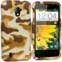 ZTE Majesty Z796C Camo 2D Hard Rubberized Design Case Cover Angle 1