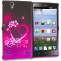 ZTE Lever Z936 Purple Love TPU Design Soft Rubber Case Cover Angle 1