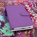 LG G Flex - Purple MPERO FLEX FLIP Wallet Case Cover Angle 2