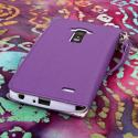 LG G Flex - Purple MPERO FLEX FLIP Wallet Case Cover Angle 3