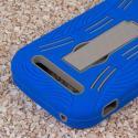 ZTE Grand S Pro - Blue MPERO IMPACT XL - Kickstand Case Cover Angle 7