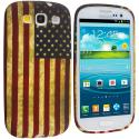Samsung Galaxy S3 USA Flag TPU Design Soft Case Cover Angle 1