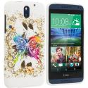 HTC Desire 610 Colorful Butterfly TPU Design Soft Rubber Case Cover Angle 1