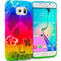 Samsung Galaxy S6 Edge Flower Power TPU Design Soft Rubber Case Cover Angle 1