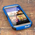 HTC One Mini 2 - Navy Blue MPERO IMPACT SR - Kickstand Case Cover Angle 2