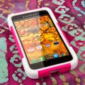 Alcatel OneTouch Fierce - HOT PINK MPERO IMPACT X - Kickstand Case Cover Angle 2