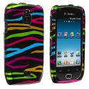 Samsung Exhibit 4G T759 Rainbow Zebra on Black Design Crystal Hard Case Cover Angle 1