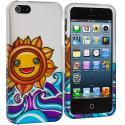 Apple iPhone 5 Sunrise on the Sea Hard Rubberized Design Case Cover Angle 2