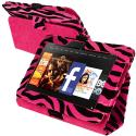 Amazon Kindle Fire HD 7 Hot Pink Zebra Folio Pouch Case Cover Stand Angle 1
