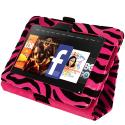 Amazon Kindle Fire HD 7 Hot Pink Zebra Folio Pouch Case Cover Stand Angle 4