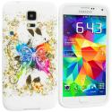 Samsung Galaxy S5 Colorful Butterfly TPU Design Soft Case Cover Angle 1