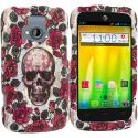 ZTE Radiant Gorgeous Skull Hard Rubberized Design Case Cover Angle 1