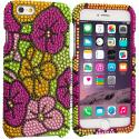 Apple iPhone 6 6S (4.7) Hot Pink Hawaii Flower Bling Rhinestone Case Cover Angle 1
