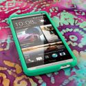 HTC One Max - Mint Green MPERO SNAPZ - Rubberized Case Cover Angle 2