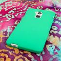 HTC One Max - Mint Green MPERO SNAPZ - Rubberized Case Cover Angle 3