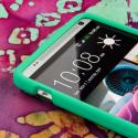 HTC One Max - Mint Green MPERO SNAPZ - Rubberized Case Cover Angle 4