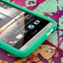 HTC One Max - Mint Green MPERO SNAPZ - Rubberized Case Cover Angle 5