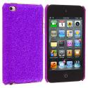 Apple iPod Touch 4th Generation Purple Glitter Case Cover Angle 1