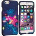 Apple iPhone 6 6S (4.7) Pink Blue Star 2D Hard Rubberized Design Case Cover Angle 1