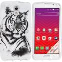 LG Volt LS740 White Tiger TPU Design Soft Rubber Case Cover Angle 1
