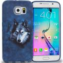 Samsung Galaxy S6 Wolf TPU Design Soft Rubber Case Cover Angle 1