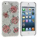 Apple iPhone 5 Lady Bug Bling Rhinestone Case Cover Angle 1