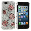 Apple iPhone 5 Lady Bug Bling Rhinestone Case Cover Angle 2