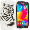Samsung Galaxy Avant G386 White Tiger TPU Design Soft Rubber Case Cover Angle 1
